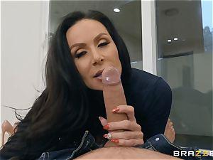senior dark haired ultra-cutie Kendra fervor riding penis