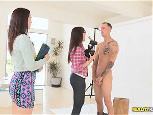 slender and splendid Dana DeArmond and her fucking partner Sarah Shevon do the brilliant photoshoot