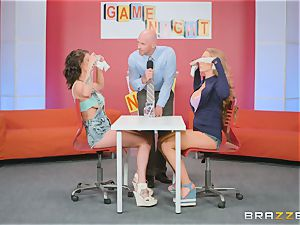 Gameshow gets a bit frisky with Nicole Aniston and Peta Jensen