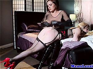 lesbian domination Krissy Lynn predominant nice latex sub