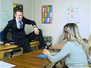sexy student Carly Rae gets plowed by a massive dicked professor