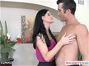 good black-haired India Summer porking