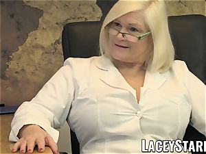 LACEYSTARR - GILF licks Pascal milky jizm after intercourse