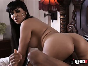huge-titted Latina Mercedes Carrera big black cock plowed and creamed