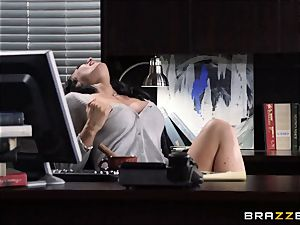 secretary Jayden Jaymes ravages on the bosses desk