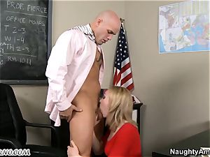 ultra-cute youthfull college girl takes her teacher's hard-on in the classroom