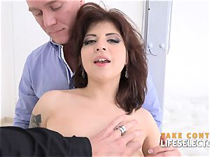 Angelin fun - pleasing two stiffys