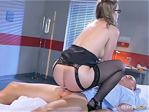 naughty medic Sunny Lane gets hold of her favourite patient