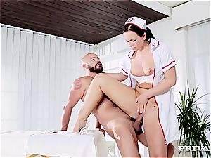 molten nurse getting assfuck creampied