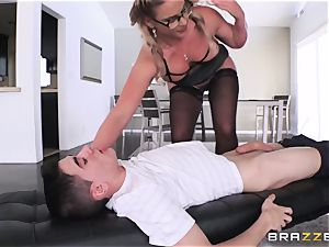 youthfull amateur student gets his prick deep-throated by violent chesty tutor Phoenix Marie