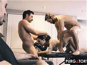 PURGATORY I let my wifey shag two men in front of me