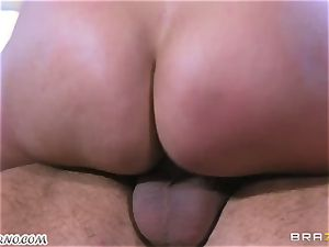 handsome mature mega-slut Nicole Aniston with ample jugs gets buttfucked and spurting