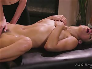 Abella Danger and Haley Reed scissor fucky-fucky makes them climax