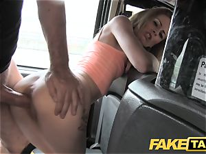 faux cab slim blonde loves it tough in back of cab