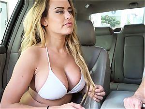 Corrina Blake delivers an in car thankyou pulverize