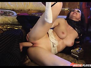 Tina kay has humungous load on her wonderful lovely face from frankenstein