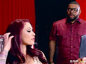 Monique Alexander getting her juicy puss romped by a dark-hued chisel