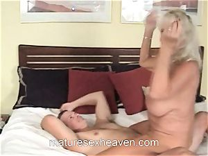 grandmother Getting Laid While Her hubby witnesses