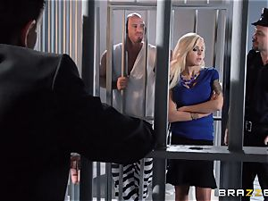 Nina Elle penetrates a stellar con in front of her hotwife hubby