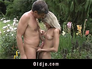 Gina Gerson gets anal invasion from an aged guy