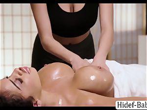 super-fucking-hot massagist Darcie Dolce rubdown Victoria obese so romantic and licks her twat