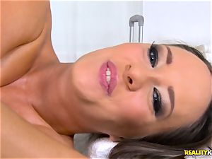 drilling the pussyhole of horny brown-haired Blue Angel