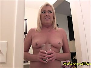 mummy Plays with Herself The Has pee urinate play Time