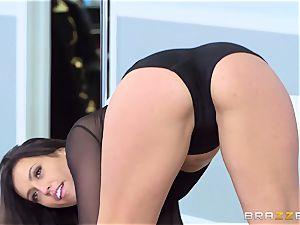 Smoking super-fucking-hot brunette Kelsi Monroe leaned over and nailed