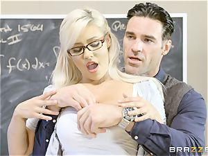 nasty college girl Kylie Page romps her professor