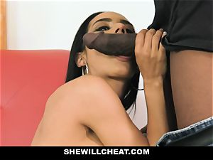 SheWillCheat - super-fucking-hot wifey With giant Rack enjoys black knob