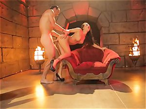 Asa Akira gets her steaming lips obese a meaty lengthy man sausage