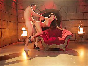 nasty Diablo with a giant stiff man sausage penetrate asian sinner Asa Akira