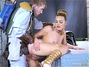 Abby Cross jammed in her humid labia