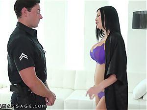 NuruMassage brit milf Jasmine Jae entices Cop