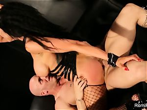Romi Rain gets shackled
