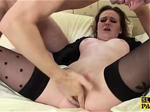british marionette superslut doggystyled before splattering
