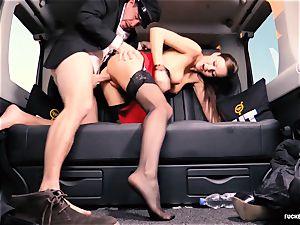 ravaged IN TRAFFIC - british Tina Kay plumbed in the car