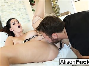 Alison takes on a humungous stiffy
