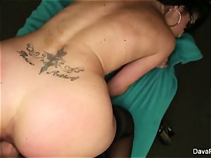 black-haired hotty Dava gets pounded pov fashion