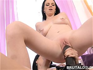 Mary rams Blue Elis hatch and cunny with a thick dildo