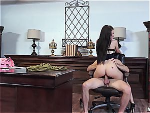 Lana Rhoades screwed at the office