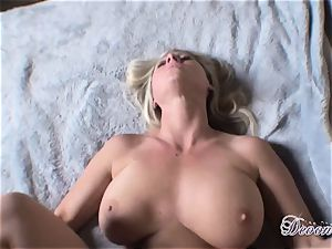 Devon Lee enjoys the monster muscle romping her cootchie real great