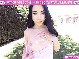 VR PORN-Hot ebony ravaged stiff pov