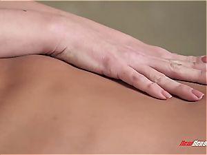 huge-boobed sista massaging pink cigar