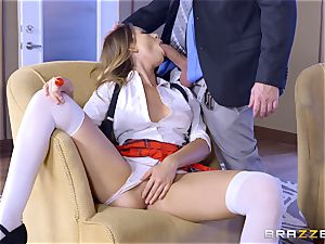 Absolutely wondrous Melissa Moore plowed in the poon at college