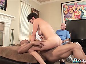 Cuck wife Charlie James ravages ebony dude