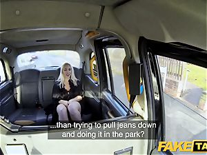 faux taxi blondie mummy Victoria Summers nailed in a cab
