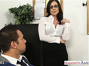 super-naughty Kendra smashed on her desk