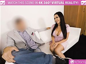 VR PORN-Hot dark-hued fucked stiff on valentines day fellow point of view