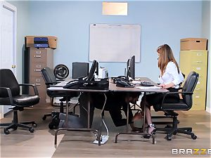 filthy office babe Dillion Harper gets shafted at work